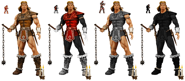 All four Color Schemes of Simon Belmont